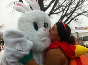 The Easter Bunny & a Turkey run the Manchester Road Race