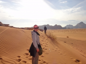 Morning stroll through the Wadi Rum