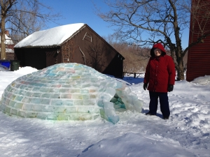 Ruth at 89 outside the Igloo