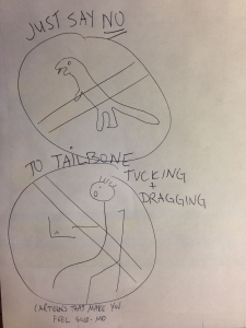 Just Say NO to Tailbone Tucking!