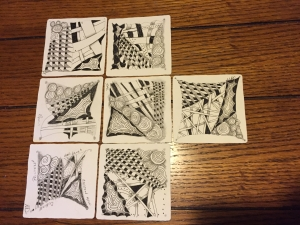 Our first Zentangles
