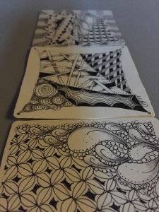 Only a sample of my weekend Zentangles because I kept going until I was out of paper.