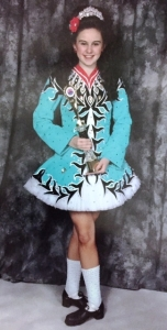 Katie in her Feis dress.