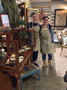 Sarah and Monica in their shop!