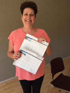 Sue with her 100 calendar!