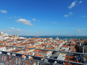 A view of Lisbon from above.  Somewhere down there we were racing through the streets to get to Fado.