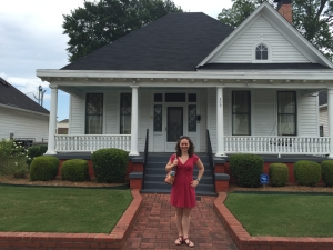 Outside the Dexter Parsonage Museum, MLK's home in Montgomery.