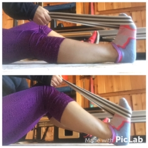 Stretch the calf muscles with a bent and a straight leg to reduce tight calf muscles!