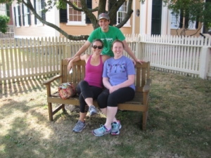 With my brother and sister-in-law in front of the Derby House, Salem, MA