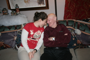 Being silly with my Grandpa--a few years after his impressive boxing match.