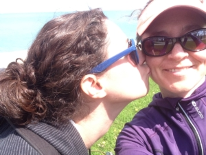 Julie comforts me after surviving the DIVVY bike.
